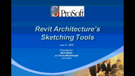 Revit Architecture Sketching Tools