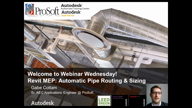Revit MEP Pipe Routing / Sizing Part 3 of 3
